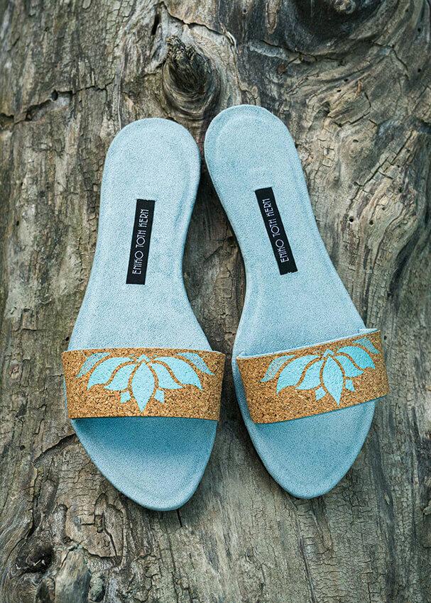 Papucs - Blue Lotus