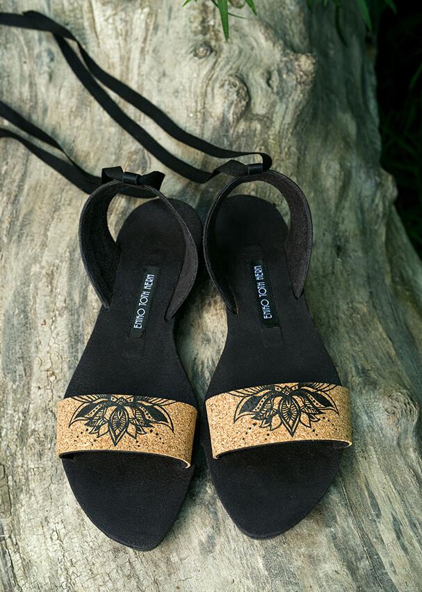 Szandál- Black Henna