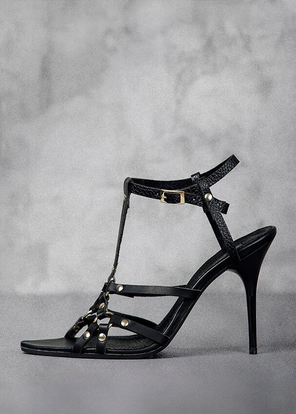 Black harness sandal